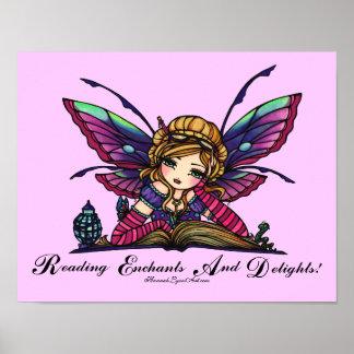 """Arte """"LEÍDO"""" del libro de la fantasía de la biblio Posters"""