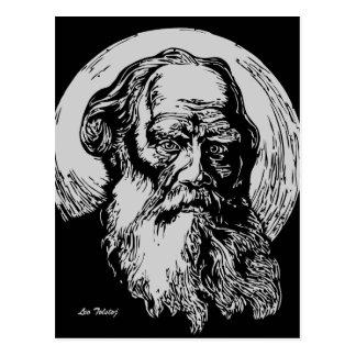 Arte León Tolstói del vector del expresionista Postales