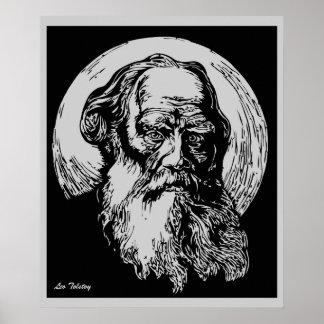 Arte León Tolstói del vector del expresionista Póster