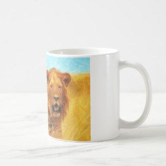 arte-leones taza de café