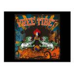 Arte libre del Grunge de Tíbet Tarjetas Postales