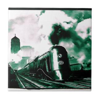 Arte limitado del siglo XX del tren Azulejo Cuadrado Pequeño