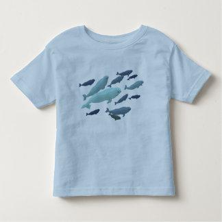 Arte lindo de la ballena del niño de la camiseta playera