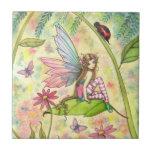 Arte lindo de la fantasía de la hada y de la mariq azulejo cerámica
