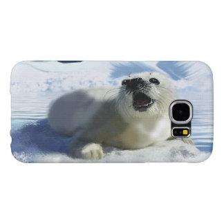 Arte lindo de la foca y del hielo de Groenlandia Fundas Samsung Galaxy S6