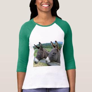 Arte lindo de la mula del burro de los animales playera