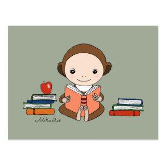 Arte lindo del aficionado a los libros de la tarjeta postal