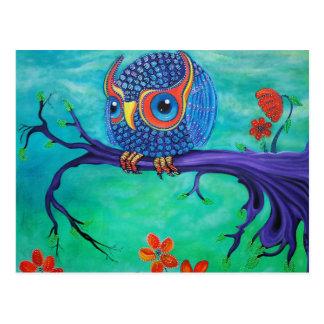 Arte lindo del búho tarjetas postales