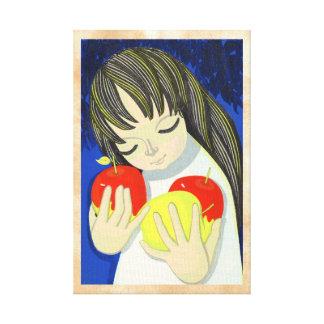 Arte lindo del chica del kawaii de la canción de I Lienzo Envuelto Para Galerias