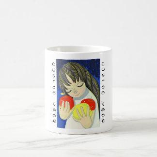 Arte lindo del chica del kawaii de la canción de I Tazas De Café