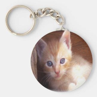 Arte lindo del gatito llavero redondo tipo pin