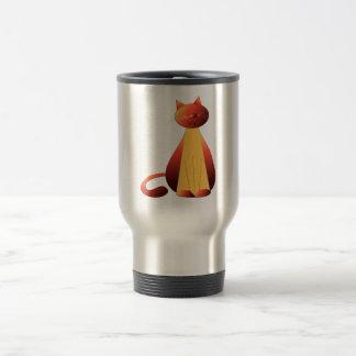 Arte lindo del gato del jengibre tazas de café