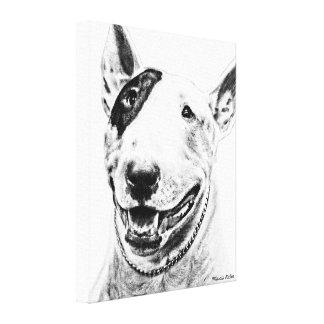 Arte lindo del perro de bull terrier