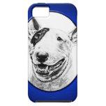 Arte lindo del perro de bull terrier iPhone 5 Case-Mate protectores