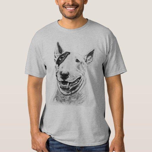 Arte lindo del perro de bull terrier poleras