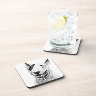 Arte lindo del perro de bull terrier posavasos de bebidas