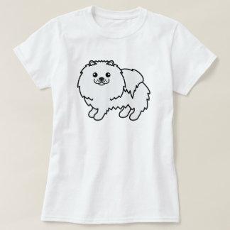 Arte lindo del perro de Pomeranian del dibujo Playera