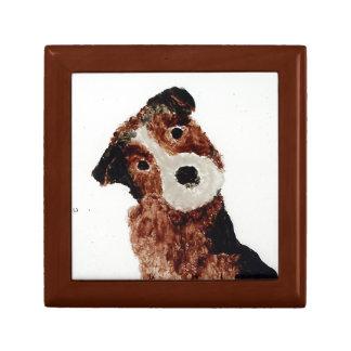 Arte lindo del perro de Terrier Cajas De Recuerdo