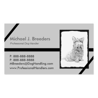 Arte lindo del perro de Terrier del escocés Tarjetas Personales