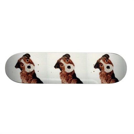 Arte lindo del perro de Terrier Tablas De Patinar