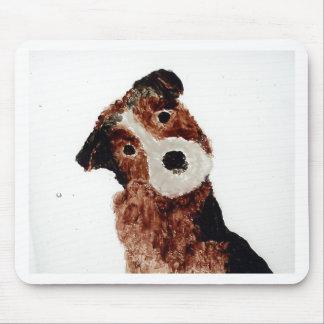 Arte lindo del perro de Terrier Alfombrilla De Ratón