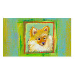 Arte lindo del perro para el refugio de los groome tarjetas de visita