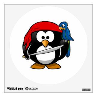 Arte lindo del pingüino del pirata