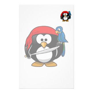 Arte lindo del pingüino del pirata papelería