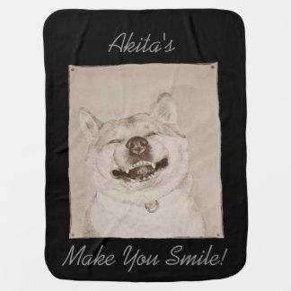arte lindo del realista del lema de la sonrisa de  mantas de bebé