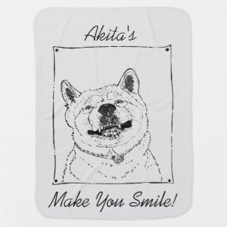 arte lindo del realista del lema de la sonrisa de  manta de bebé