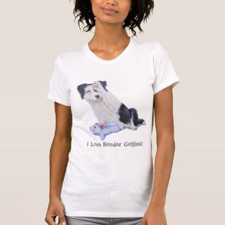 Arte lindo del realista del retrato del perro de p tee shirts