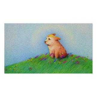 Arte lindo del rescate del groomer del caminante d plantillas de tarjetas personales