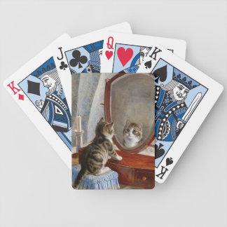 Arte lindo del vintage del gato del gatito de Fran Barajas De Cartas