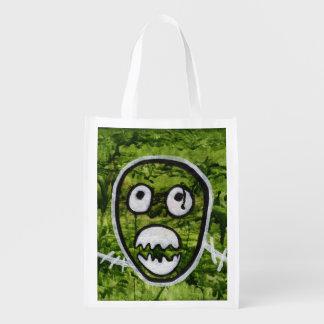 Arte lindo miserable del verde de la sandía del bolsa de la compra
