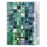 Arte líquido de la teja de mosaico del mar profund libros de apuntes