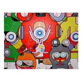 arte loco tarjeta postal