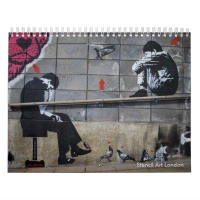 Arte Londres de la plantilla Calendario