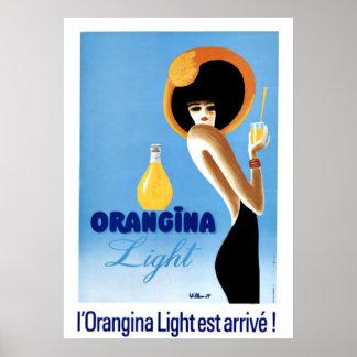 """Arte """"luz del vintage de Orangina """" Posters"""