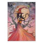 Arte mágico de Halloween de la bruja y del gato de