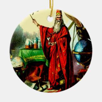 Arte mágico de la etiqueta de Litho del sino de Adorno Redondo De Cerámica