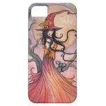Arte mágico de la fantasía de la bruja y del gato  iPhone 5 Case-Mate protectores