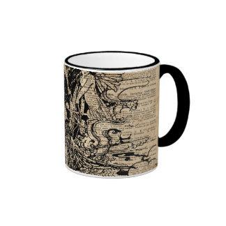 Arte mágico de la tinta de la antigüedad del taza de dos colores
