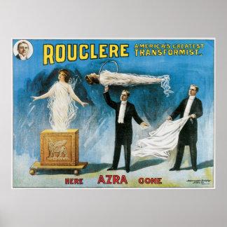 Arte mágico del poster del vintage
