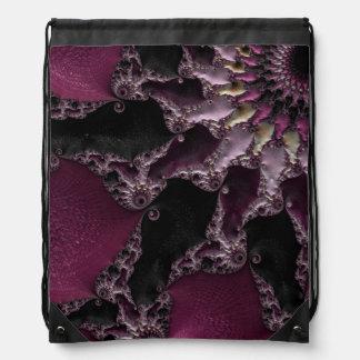 Arte magnífico del fractal de la lavanda mochila