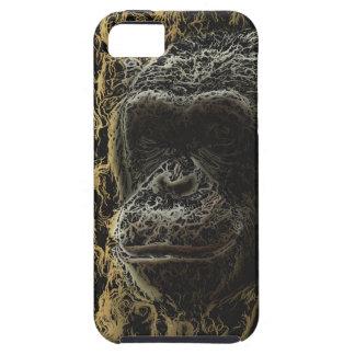 Arte magnífico del mono iPhone 5 fundas