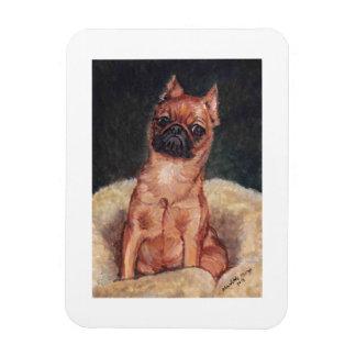 Arte Magnt del perro de Bruselas Griffon Imán