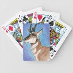 Arte majestuoso del antílope de Pronghorn Baraja Cartas De Poker