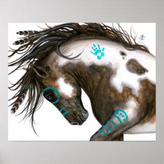 Arte majestuoso del poster del caballo por Bihrle