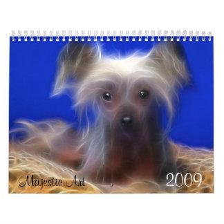 Arte majestuoso, imágenes del perro de Fractual Calendarios