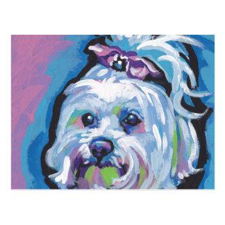 Arte maltés del perro del estallido postal